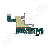 Шлейф (Flat cable) iPhone 6 Plus с гнездом на зарядку,   гнездом на наушники,   микрофоном белый