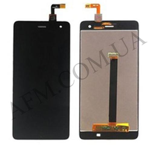 Дисплей (LCD) Xiaomi Mi4 с сенсором чёрный