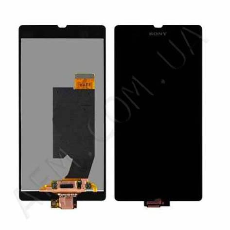 Дисплей (LCD) Sony C6602 L36h Xperia Z/  C6603 L36i /  C6606 L36a с сенсором чёрный, фото 2