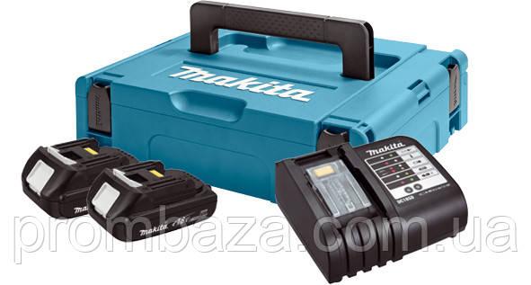 Набор аккумуляторов Makita LXT 2x1.5 Ач + DC18SD + Makpac