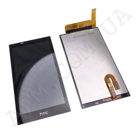 Дисплей (LCD) HTC 610 Desire с сенсором чёрный, фото 2