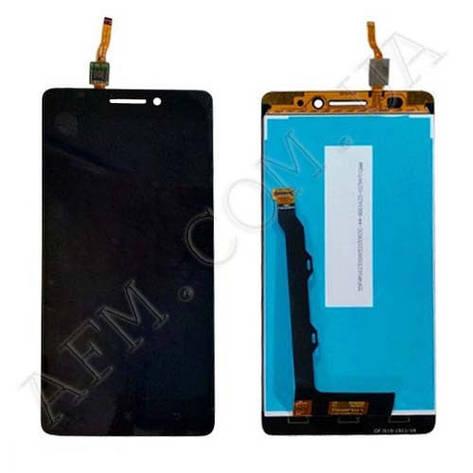 Дисплей (LCD) Lenovo A7000 с сенсором чёрный, фото 2
