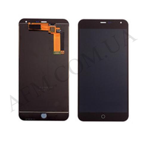 Дисплей (LCD) Meizu M1 Note с сенсором чёрный, фото 2
