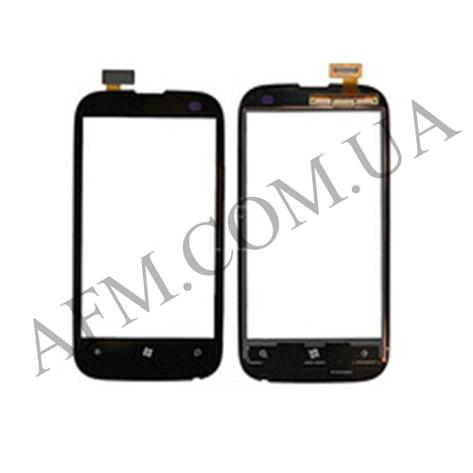 Сенсор (Touch screen) Nokia 510 Lumia чёрный копия, фото 2
