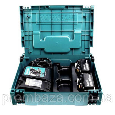 Набор аккумуляторов Makita LXT 2x3.0 Ач + DC18RC + Makpac, фото 2