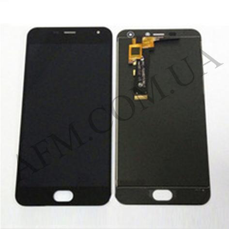 Дисплей (LCD) Meizu M2/  M2 mini с сенсором чёрный большая микросхема 6x6 mm, фото 2