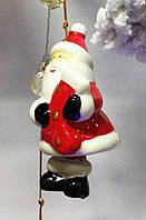Колокольчик новогодний, подвеска, Дед Мороз, керамика, Новогодние сувениры, Днепропетровск