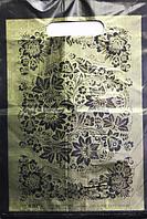 Пакет поліетиленовий Типу Банан Арнамент чорний 20 х30 см / уп-100шт
