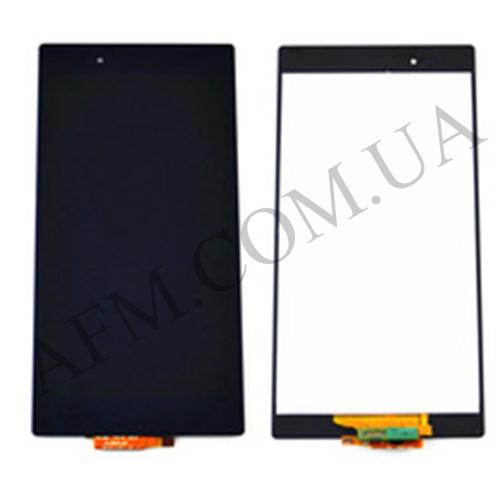 Дисплей (LCD) Sony C6802 XL39h Xperia Z Ultra/  C6806/  C6833 с сенсором чёрный оригинал
