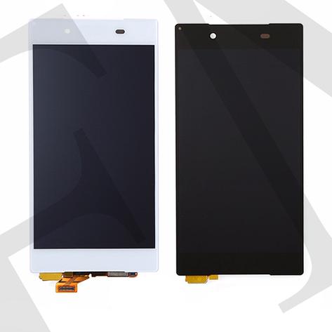 Дисплей (LCD) Sony E6603 Xperia Z5/  E6653/  E6683 с сенсором белый оригинал, фото 2