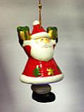 Колокольчик новогодний, подвеска, Дед Мороз, керамика, Новогодние сувениры, Днепропетровск, фото 2