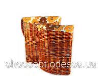 Корзины для белья из лозы угловые набор 2шт 56х42х42 см, фото 1