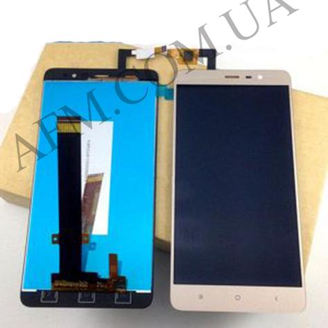 Дисплей (LCD) Xiaomi Redmi Note 3/  Redmi Note 3 Pro с сенсором золотой, фото 2
