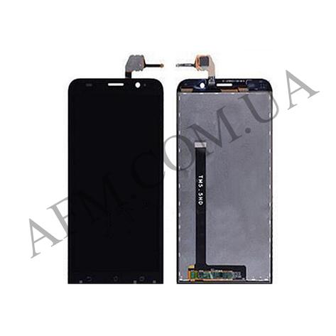 Дисплей (LCD) Asus ZenFone 2 (ZE551ML) с сенсором чёрный, фото 2