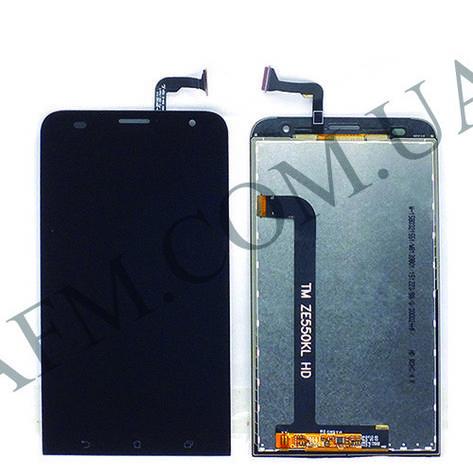 Дисплей (LCD) Asus ZenFone 2 Laser (ZE550KL) с сенсором чёрный, фото 2
