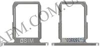 Держатель SIM- карты для Samsung G920F Galaxy S6,   белый