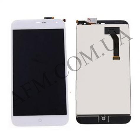 Дисплей (LCD) Meizu MX2 с сенсором белый, фото 2