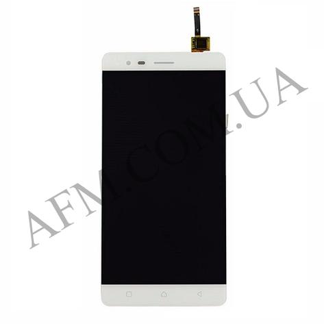 Дисплей (LCD) Lenovo A7020 Vibe K5 Note с сенсором белый, фото 2
