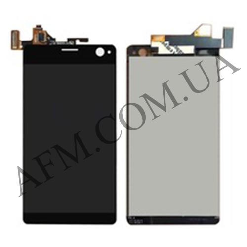 Дисплей (LCD) Sony E5333 Xperia C4 Dual/  E5343/  E5363 с сенсором чёрный
