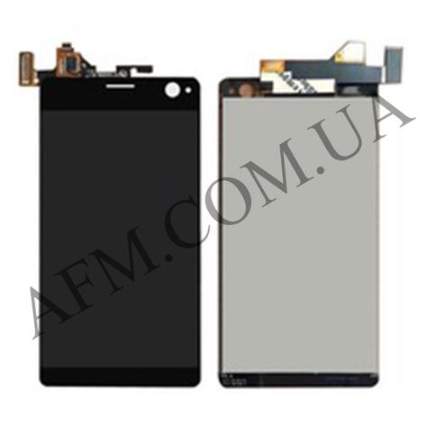 Дисплей (LCD) Sony E5333 Xperia C4 Dual/  E5343/  E5363 с сенсором чёрный, фото 2