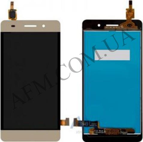 Дисплей (LCD) Huawei Honor 4C (CHM- U01)/  G Play mini с сенсором золотой, фото 2