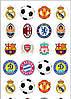 Футбол 24 вафельна картинка