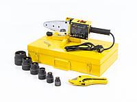 Аппарат для сварки пластиковых труб DWP-1500 1500Вт 260-300 градусов комплект насадок 20-63 мм DENZEL 94205