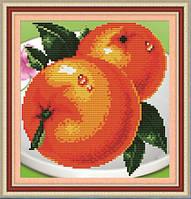 """Картина для рисования камнями """"Апельсины"""""""