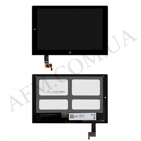 Дисплей (LCD) Lenovo 1051 LTE Yoga Tablet 2 с сенсором чёрный, фото 2