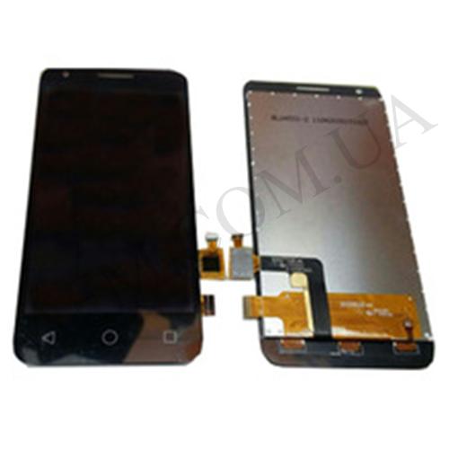 Дисплей (LCD) Alcatel 4027D PIXI 3(4.5)/  5017D/  5017X One Touch с сенсором чёрный