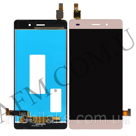 Дисплей (LCD) Huawei P8 Lite (ALE L21) с сенсором золотой, фото 2