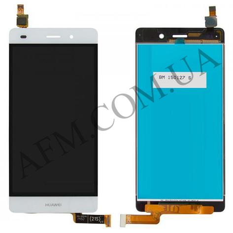 Дисплей (LCD) Huawei P8 Lite (ALE L21) с сенсором белый, фото 2