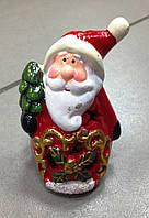 Дед Мороз, 10х6х6 см, сувенир новогодний, светодиодный, керамика, Днепропетровск