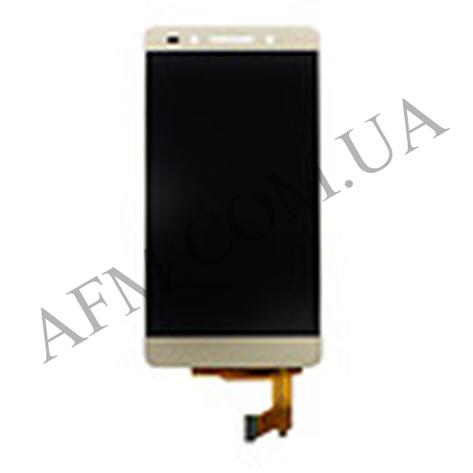 Дисплей (LCD) Huawei Honor 7 с сенсором золотой, фото 2