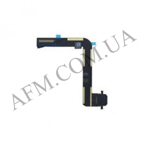 Шлейф (Flat cable) iPad Air 2 с разъемом зарядки чёрный