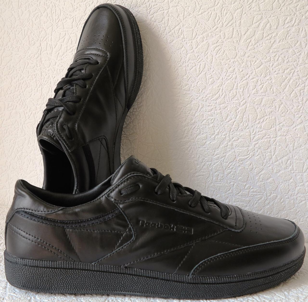 9707a16a2 Кроссовки Reebok Club C 85 Black *реплика* мужские кроссовки из натуральной  кожи рибок, ...