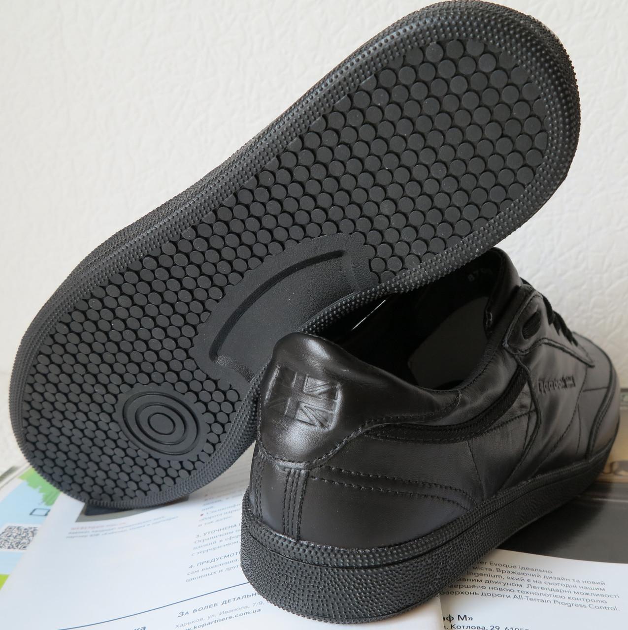 3ca29480f ... Кроссовки Reebok Club C 85 Black *реплика* мужские кроссовки из  натуральной кожи рибок, ...