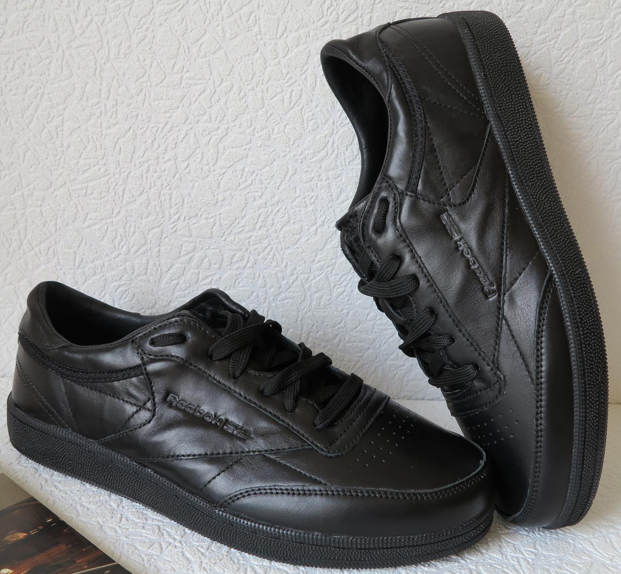 9afe87037 Кроссовки Reebok Club C 85 Black *реплика* мужские кроссовки из натуральной  кожи рибок