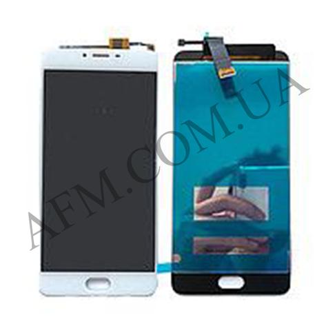 Дисплей (LCD) Meizu U20 с сенсором белый, фото 2