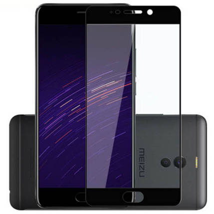 Стекло Full Coverage для Meizu M6 Note цвет Black, фото 2