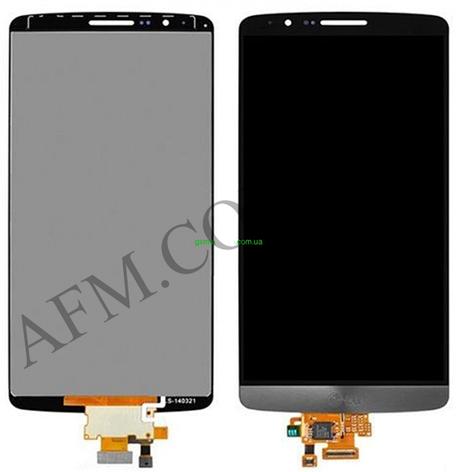 Дисплей (LCD) LG D690 G3 Stylus с сенсором серый оригинал, фото 2