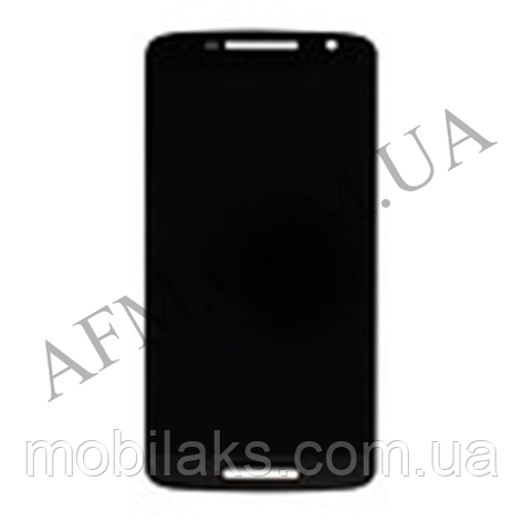 Дисплей (LCD) Motorola XT1561 Moto X Play/  XT1562/  /  XT1563/  XT1564 с сенсором чёрный, фото 2