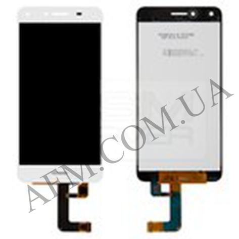 Дисплей (LCD) Huawei Y5 II (CUN- U29/  Honor 5/  Honor Play 5) с сенсором белый (версия 3G), фото 2