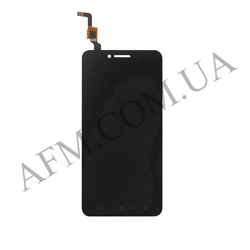 Дисплей (LCD) Lenovo A6020a40 Vibe K5 с сенсором чёрный (желтый шлейф)