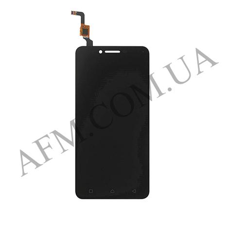 Дисплей (LCD) Lenovo A6020a40 Vibe K5 с сенсором чёрный (желтый шлейф), фото 2