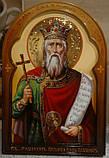 Икона писаная Святого Равноап. Князя Владимира, фото 2