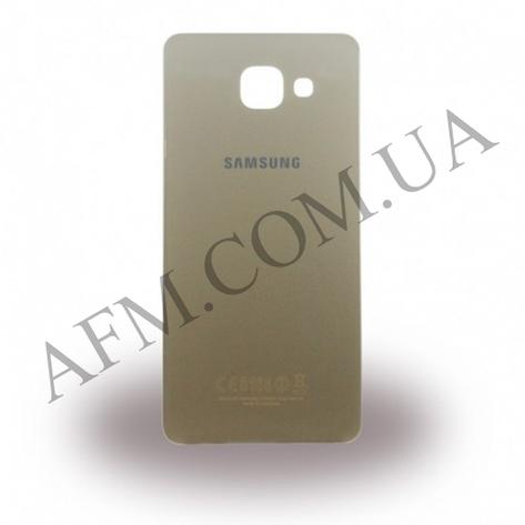Задняя крышка Samsung A510F Galaxy A5/  A510FD/  A510M/  A510Y/  A5100 (2016) золотая оригинал, фото 2