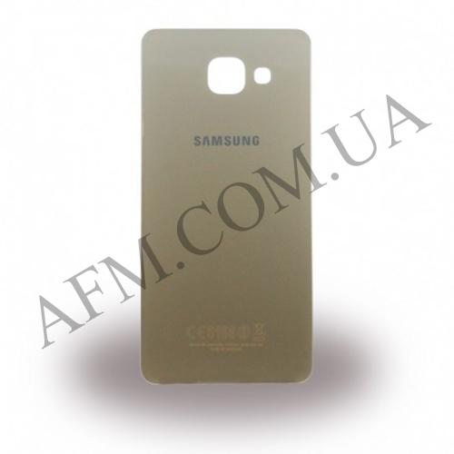 Задняя крышка Samsung A510F Galaxy A5/  A510FD/  A510M/  A510Y/  A5100 (2016) золотая оригинал