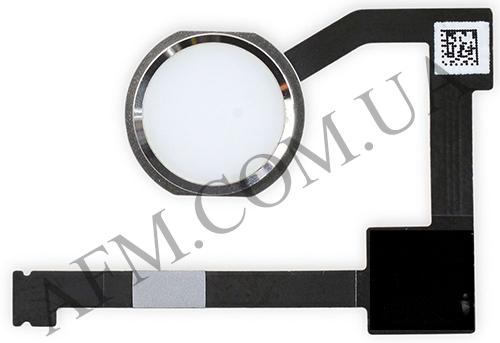 Шлейф (Flat cable) iPad Air 2 c кнопкой Home с компонентами белый, фото 2