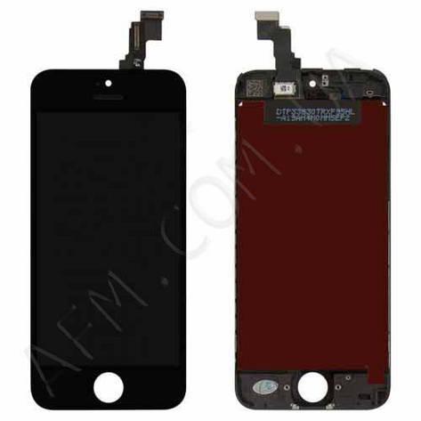 Дисплей (LCD) iPhone 5C с сенсором чёрный оригинал, фото 2